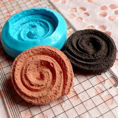 Danish Cookie Mold Round Biscuit 33mm Flexible Silicone Mold Decoden Kawaii Miniature Sweets Mold Polymer Clay Food Jewelry Cabochon MD191