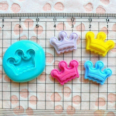 Crown (17mm) Silicone Flexible Push Mold - Jewelry, Charms, Cupcake (Clay, Fimo, Premo, Casting Resins, Epoxy, Wax, GumPaste, Fondant) MD529