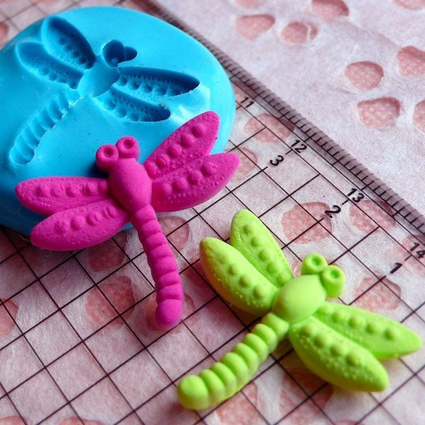 Dragonfly Mold 26mm Flexible Silicone Mold Gumpaste Fondant Fimo