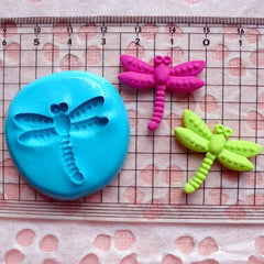 Dragonfly Mold 26mm Flexible Silicone Mold GumPaste Fondant Fimo Polymer Clay Jewelry Charms Resin Cupcake Topper Mold Cake Decoration MD414