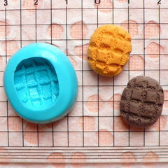 Kawaii Silicone Mold Flexible Mold - Cross Bun / Bread (16mm) Miniature Sweets, Jewelry, Charms (Clay Fimo Resin Gum Paste Fondant) MD211