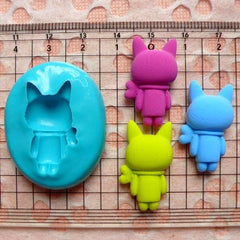 Bunny / Rabbit (26mm) Silicone Flexible Push Mold - Miniature Food, Sweets, Jewelry, Charms (Clay, Fimo, Resins, Gum Paste, Fondant) MD443