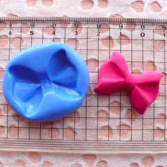 Bow / Bowtie (28mm) Silicone Flexible Push Mold - Miniature Food, Sweets, Jewelry, Charms (Clay, Fimo, Resins, Gum Paste, Fondant) MD480
