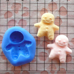Gingerbread Man (17mm) Silicone Flexible Mold Miniature Food, Sweets, Jewelry, Charms (Clay, Fimo, Casting Resin, Gum Paste, Fondant) MD768