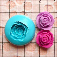 Rose / Flower (12mm) Silicone Flexible Push Mold - Jewelry, Charms, Cupcake (Clay, Fimo, Casting Resin, Wax, Soap, Gum Paste, Fondant) MD562