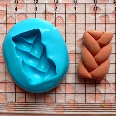 Braid Twist Bread Mold 24mm Flexible Silicone Mold Decoden Kawaii Miniature Sweets Fimo Polymer Clay Food Jewelry Cabochon Charms Wax MD228