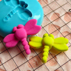 Dragonfly (17mm) Silicone Flexible Push Mold - Jewelry, Charms, Cupcake (Clay Fimo Casting Resins Epoxy Wax Soap Gum Paste Fondant) MD413