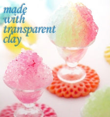 Clear Resin Clay - Flower / Jewelry / Miniature Food / Jelly / Pudding / Vegetable Making - Sukerukun Transparent Clay (200g)