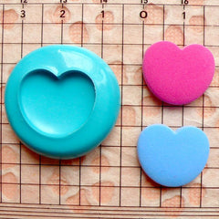 Heart Mold 18mm Silicone Mold Flexible Mold Scrapboooking Mold Mini Cupcake Topper Mold fondant Gumpaste Fimo Polymer Clay Resin Mold MD504