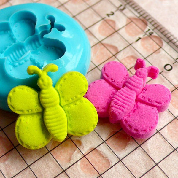 Butterfly (17mm) Silicone Flexible Push Mold - Miniature Food, Sweets, Jewelry, Charms (Clay, Fimo, Resins, Fondant) MD407