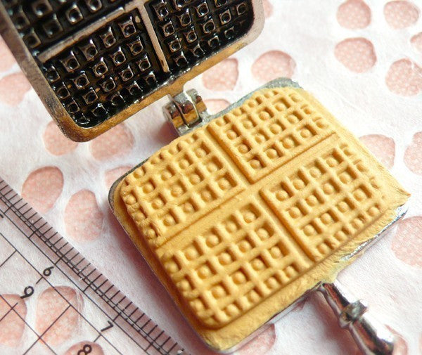 Mold / Mould - Waffle Maker for Making Miniature Food / Sweets / Dessert (Resin Clay, Paper Clay, etc) MI08
