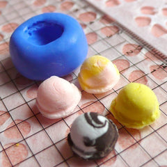 Decoden Supplies Ice Cream Scoop 11mm Silicone Flexible Mold Kawaii Miniature Sweets Fimo Polymer Clay Jewelry Charms DIY Cabochon MD743