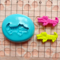 Crocodile (18mm) Silicone Flexible Push Mold - Miniature Food, Cupcake, Jewelry, Charms (Resin Paper Clay Fimo Wax Gum Paste Fondant) MD459