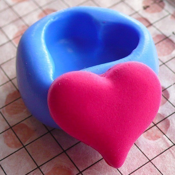 Heart Mold 17mm Silicone Flexible Mold Scrapbooking DIY Jewelry Love Cabochon Resin Fimo Polymer Clay Fondant Gumpaste Cupcake Topper MD506