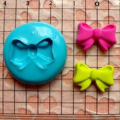 Ribbon / Bow (18mm) Silicone Flexible Push Mold - Cupcake, Jewelry, Charms (Resin, Clay, Fimo, Wax, Plaster, Soap, Gum Paste, Fondant) MD787