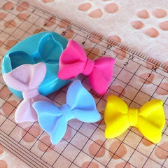 Bow Tie / Bowtie (21mm) Silicone Flexible Push Mold - Jewelry, Charms, Cupcake (Clay Fimo Epoxy Resin Soap Wax GumPaste Fondant) MD479