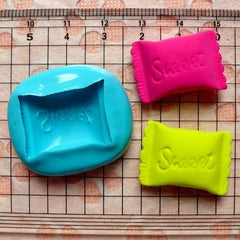 Flexible Mold Silicone Mold Sweet Candy 23mm Decoden Kawaii Miniature Sweets Food Polymer Clay Jewelry Charms Resin Wax Cabochon Mould MD688