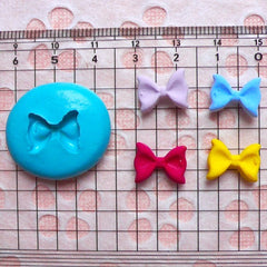 Bow Tie (13mm) Silicone Flexible Push Mold - Miniature Food, Sweets, Jewelry, Charms, Cupcake (Clay Fimo Resin Wax Gum Paste Fondant) MD472
