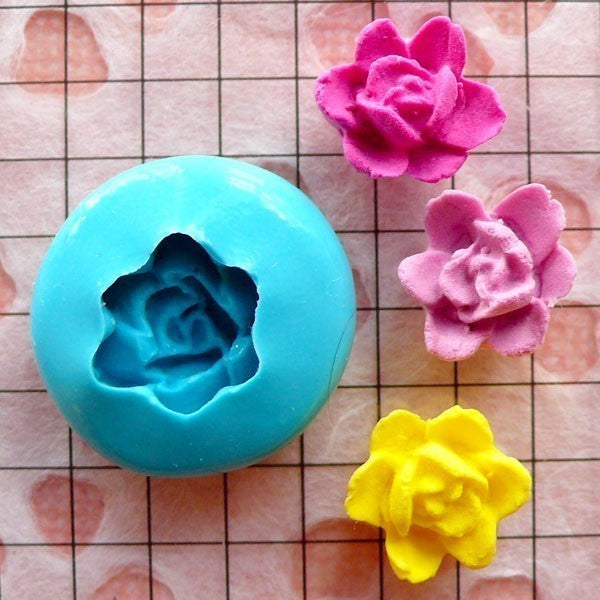 Flower Mold Lotus Mold 12mm Flexible Silicone Mold Jewelry Earrings Mold Mini Gumpaste Fondant Mold Polymer Clay Scrapbooking Mold MD813