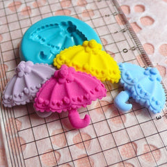 Princess / Lolita Umbrella (24mm) Silicone Flexible Push Mold Miniature Food, Sweets, Jewelry, Charms (Clay, Fimo, GumPaste, Fondant) MD534