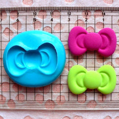 Kawaii Mold Bow Mold 29mm Flexible Silicone Mold Resin Mold Cupcake Topper Fondant Gumpaste Scrapbooking Cell Phone Deco Push Mold MD482