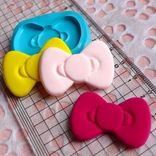 Bowtie Mold Bow Mold 35mm Flexible Silicone Mold Kawaii Cupcake Topper Mold Cake Decoration Mold Resin Mold Phone Deco Scrapbooking MD483