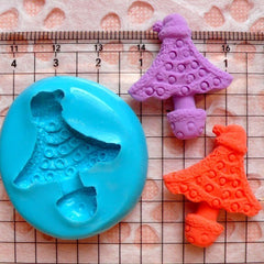 Christmas Tree Mold 30mm Silicone Flexible Mold Cupcake Topper Fondant Mold Gum Paste Scrapbooking Fimo Polymer Clay Resin Wax Mold MD678