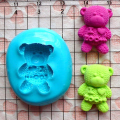 I Love Zoo Bear (20mm) Silicone Flexible Push Mold - Jewelry, Charms, Cupcake (Clay Fimo Casting Resin Epoxy Wax Fondant Gum Paste) MD451
