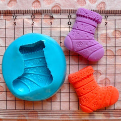 Christmas Stocking Mold 23mm Flexible Silicone Mold Gum Paste Fondant Cupcake Topper Deco Fimo Polymer Clay Wax Resin Scrapbooking MD680