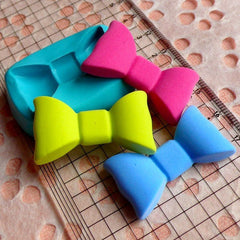 Bow / Bowtie (34mm) Silicone Flexible Push Mold - Miniature Food, Sweets, Jewelry, Charms (Clay, Fimo, Epoxy, Gum Paste, Fondant, Wax) MD489