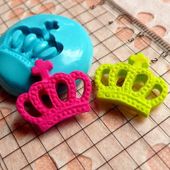 Crown (19mm) Silicone Flexible Push Mold - Jewelry, Charms, Cupcake (Clay, Fimo, Casting Resins, Epoxy, Wax, Soap, Gum Paste, Fondant) MD530