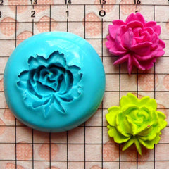 Flower / Rose (18mm) Silicone Flexible Push Mold - Jewelry, Charms, Cupcake (Clay Fimo Premo Casting Resin Epoxy Fondant Gum Paste) MD573