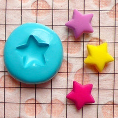 Star (10mm) Silicone Flexible Push Mold - Miniature Food, Sweets, Jewelry, Charms (Clay, Fimo, Resins, Gum Paste, Fondant) MD492