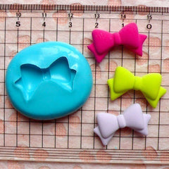 Ribbon / Bow (24mm) Silicone Flexible Push Mold - Miniature Food, Sweets, Jewelry, Charms (Clay, Fimo, Resin, Soap, GumPaste, Fondant) MD490