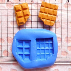 Bitten Chocolate Bar 2pcs 17mm Silicone Mold Flexible Mold Kawaii Miniature Sweets Fimo Polymer Clay Jewelry Charms Cabochon Mold MD733