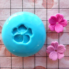 Tiny Flower / Sakura (9mm) Silicone Flexible Push Mold - Miniature Sweets, Cupcake, Jewelry Charms (Clay Fimo Resin GumPaste Fondant) MD560