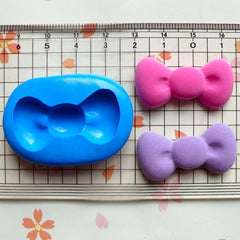 Bow / Bowtie (34mm) Silicone Flexible Push Mold - Jewelry, Charms, Cupcake (Clay, Fimo, Casting Resins, Epoxy, Wax, GumPaste, Fondant) MD484