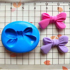 Ribbon Mold Bow 23mm Flexible Silicone Mold Mini Cupcake Topper Fondant Gum Paste Mold Cake Deco Kawaii Jewelry Cacochon Polymer Clay MD469