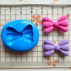 Bow / Bowtie (24mm) Silicone Flexible Push Mold - Jewelry, Charms, Cupcake (Clay, Fimo, Resin, Epoxy, Soap, Wax, Gum Paste, Fondant) MD481