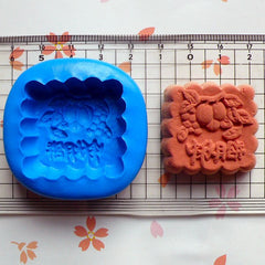 Mooncake Mold Square 33mm Flexible Silicone Mold Miniature Sweets Deco Fimo Mold Chocolate Mold Jewelry Kawaii Charms Cabochon Resin MD341