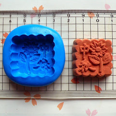 Mooncake (Square) (27mm) Silicone Mold Flexible Mold - Miniature Food, Sweets, Jewelry, Charms (Clay Fimo Resin Gum Paste Fondant Wax) MD340