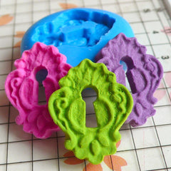 Vintage / Antique Keyhole (20mm) Silicone Flexible Push Mold - Jewelry, Charms, Cupcake (Clay, Fimo, Casting Resin, GumPaste, Fondant) MD527