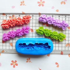 Vintage Flower / Chrysanthemum Barrette (49mm) Silicone Flexible Push Mold Miniature Food Sweets Jewelry Charms (Clay Fimo Gum Paste) MD621