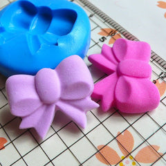 Ribbon / Bow (22mm) Silicone Flexible Push Mold - Miniature Food, Sweets, Jewelry, Charms (Clay, Fimo, Resins, Gum Paste, Fondant) MD762