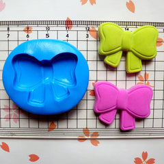Ribbon / Bow (30mm) Silicone Flexible Push Mold Jewelry Charms Cupcake (Clay Fimo Premo Resin Epoxy Soap Gum Paste Fondant Wax) MD756