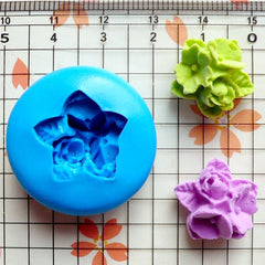 Flower Cluster Cameo (17mm) Silicone Flexible Push Mold - Miniature Food, Sweets, Jewelry, Charms (Clay Fimo Resin Gum Paste Fondant) MD609