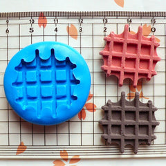 Waffle (26mm) Flexible Mold Silicone Mold - Miniature Food, Cupcake, Jewelry, Charms (Resin Clay Fimo Sculpey Premo Epoxy Fondant) MD308