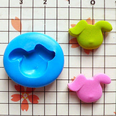 Dog Head (18mm) Silicone Flexible Push Mold Jewelry Charms Cupcake (Clay, Fimo, Premo, Epoxy, Casting Resin, Wax, Gum Paste, Fondant) MD765