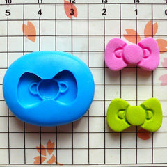 Bow Mold Bowtie Mold 17mm Flexible Silicone Mold Kawaii Cell Phone Deco Scrapbooking Mold Gumpaste Fondant Mold Cupcake Topper Clay MD477