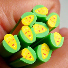 Polymer Clay Cane - Smiling Sweet Corn - for Miniature Food / Dessert / Cake / Ice Cream Sundae Decoration and Nail Art CFD10